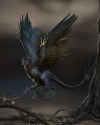 Microraptor by LindseyWArt
