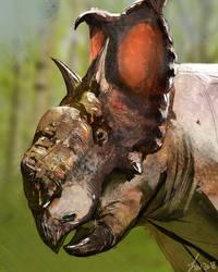 Dinovember: Pachyrhinosaurus by LindseyWArt