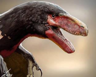 Dinovember: Utahraptor by LindseyWArt