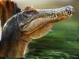 Dinovember: Spinosaurus by LindseyWArt