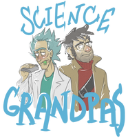 Science Grandpas (t-shirt design) by RatTheRipper