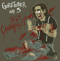Goretober day 5 Self- Cannibalism by RatTheRipper