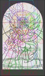 MLP Celestia Themed Wooden Clock (Concept) by weRDunfo