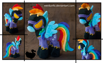 Shadowbolt Rainbow Dash Plushie by weRDunfo