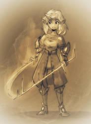 Elf Arcane Warrior by MareniusArt
