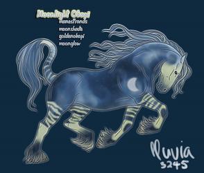 Moonlight Okapi Design - Lunaire by letrainfalldown