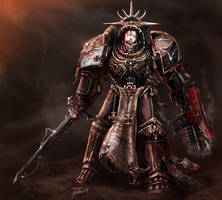 Black templar chaplain by LordHannu