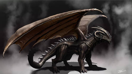 Smoke dragon by LordHannu