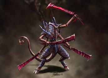Tyranid swarmlord by LordHannu