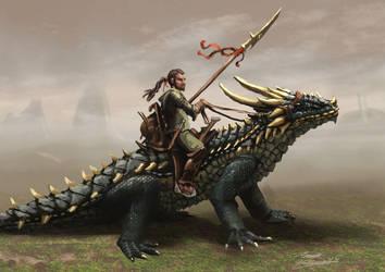 Lizard Rider by LordHannu