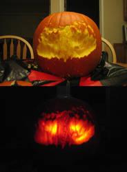Sephiroth Pumpkin by kmkho