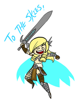 Smite - To the skies (Chibi) by Zennore