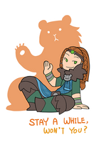 Smite - Stay for a While (Chibi) by Zennore