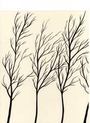 Black Trees 1 by shadowofthedragon