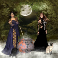 Commission - Two Wiccans by anitalee