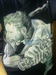 one piece zoro t-shirt by Wantabee