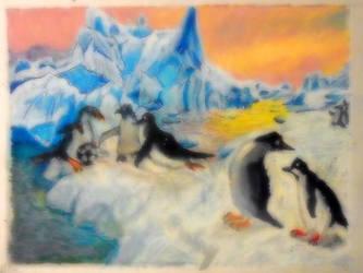 Penguins-pastel by matthornb