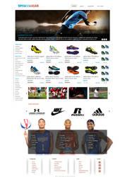 Sports Gear Webpage by KustomzGraphics