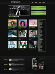 Band Finder Webpage by KustomzGraphics