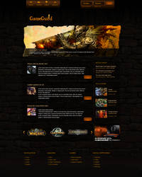 Game Guild Webpage by KustomzGraphics
