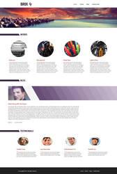 Brix Webpage by KustomzGraphics