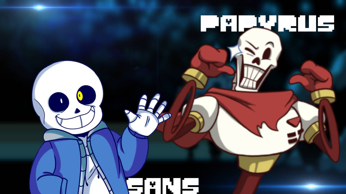 Undertale Sans And Papyrus Wallpaper By Candy C4n3 On Deviantart