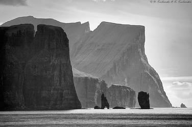 Cliffs of Faroe Islands by Dark-Raptor