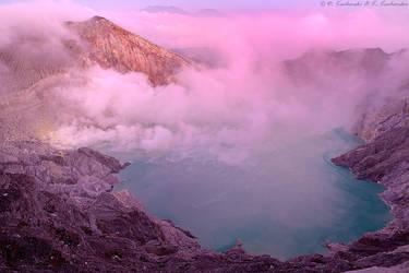 Dawn over Kawah Ijen by Dark-Raptor