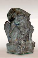 Bronze Cthulhu Idol with patina by DrMonkeyface
