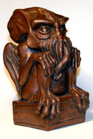 Copper Cthulhu Statue by DrMonkeyface