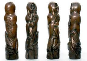 Norse god Odin Sculpture by DrMonkeyface