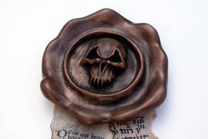 Warhammer 40k - Purity seal with copper finish by DrMonkeyface