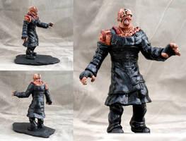 Resident Evil Nemesis T type sculpture by DrMonkeyface