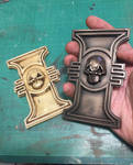 Warhammer 40k Imperial Inquisition rosettes by DrMonkeyface