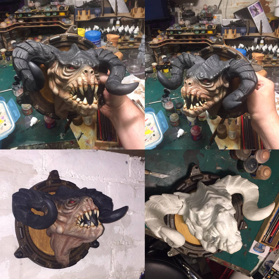 Fallout Deathclaw bust kit by DrMonkeyface