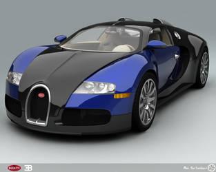 Bugatti Veyron - Blue by AfroAfroguy