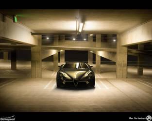 Alfa 8C Car Park- Hypershot by AfroAfroguy