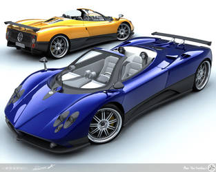 Pagani Zonda Roadsters by AfroAfroguy