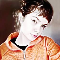 Girl-with-orange-jacket by Tumithax