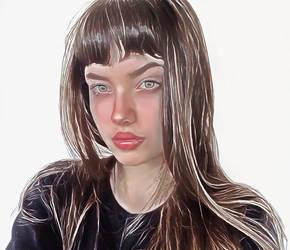 Long-hair-girl by Tumithax