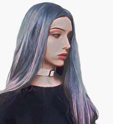 Girlwithbluehair by Tumithax