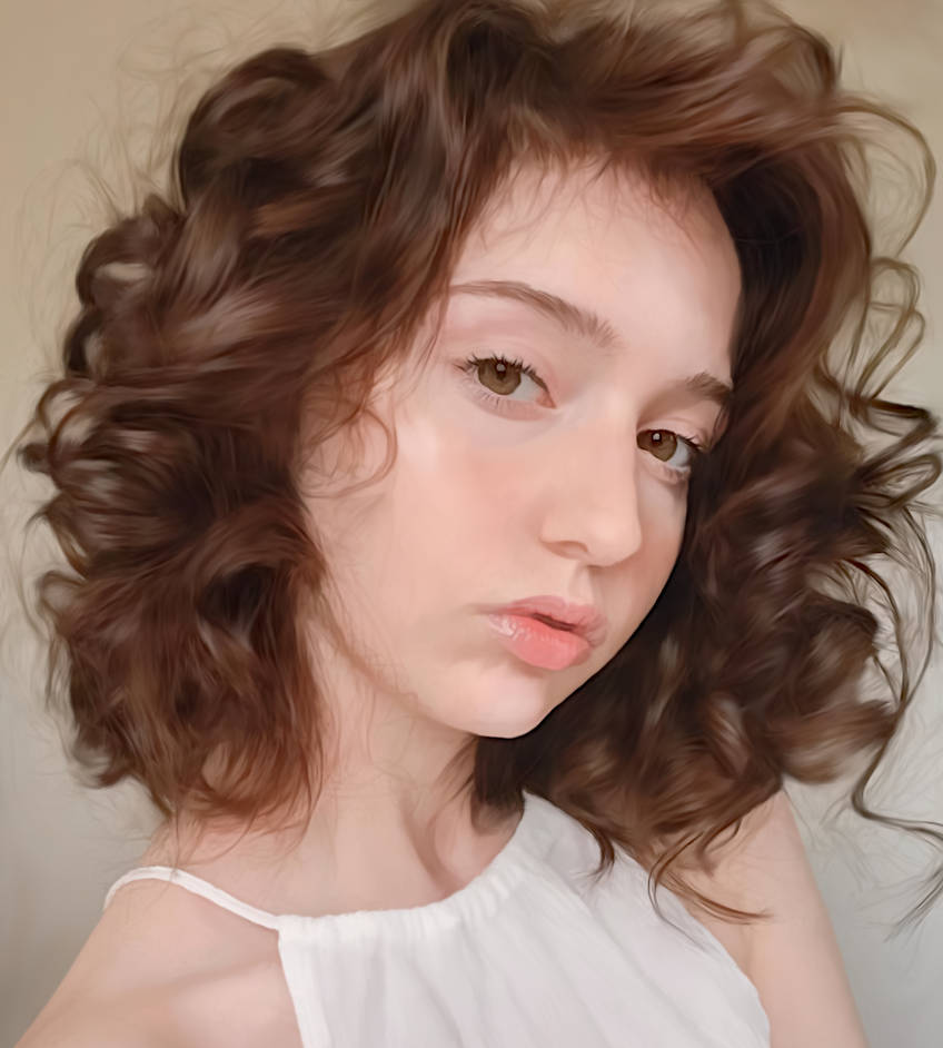 Girl With Curly Hair by Tumithax