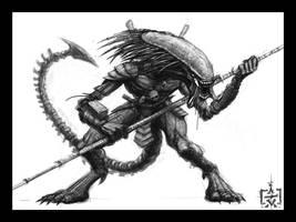 Predator-Alien Hybrid by VegasMike