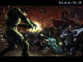 Halo 2 Wallpaper by VegasMike
