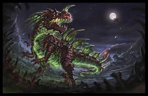 Radioactive Dinosaur by VegasMike