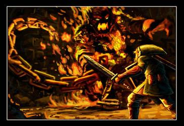 Link Vs. The Fire Boss by VegasMike