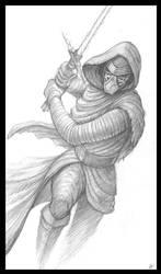 Kylo Ren Sketch by VegasMike