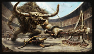 Bull Fight by VegasMike