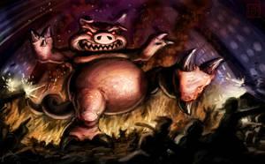 The Mega Pig Attacks by VegasMike