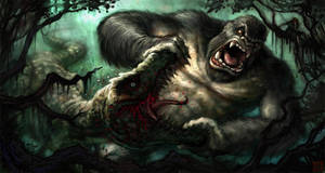 Kong Vs. Trex by VegasMike